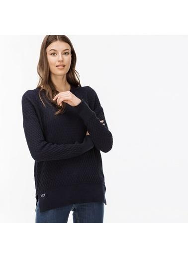 Lacoste Kadın  Sweatshirt SF1902 Lacivert